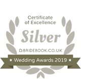 Bridebook 2019 SIlver Award Winner
